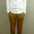 白色・ホワイトのオックスフォードシャツできれいめな清潔感を出す!