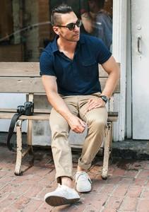 夏を爽やかに大人っぽくクールに涼しい!ネイビー・紺色のポロシャツ